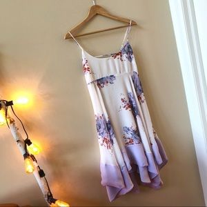 FREE PEOPLE Summer Backless Dress Sz S Floral